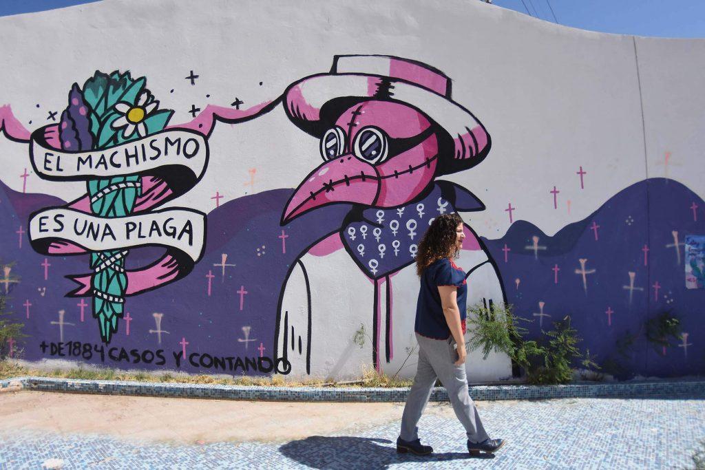 Se quiere que el Memorial de Campo Algodonero sea un espacio de reunión y trabajo comunitario. Foto: Rey R. Jáuregui